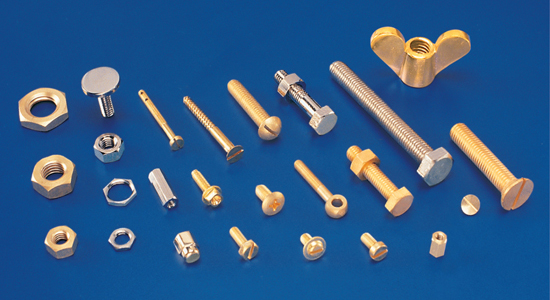 brass copper bolts nuts screws fasteners turned parts